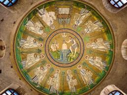 domes, Arian Baptistery, Ravenna, byzantine architecture